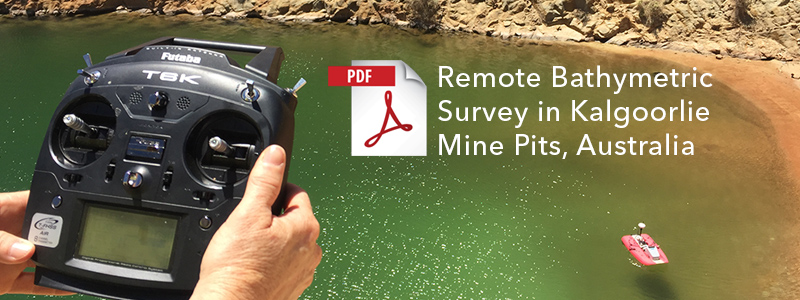 Remote Bathymetric Survey in Kalgoorlie Mine Pits, Australia